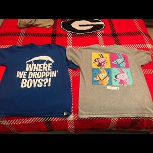 Other - Fortnite boys T-shirts only worn 2 times